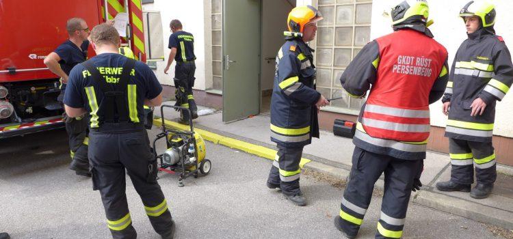 Brandeinsatz im Donaukraftwerk Ybbs-Persenbeug
