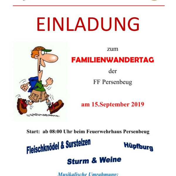 Familienwandertag am 15. September 2019