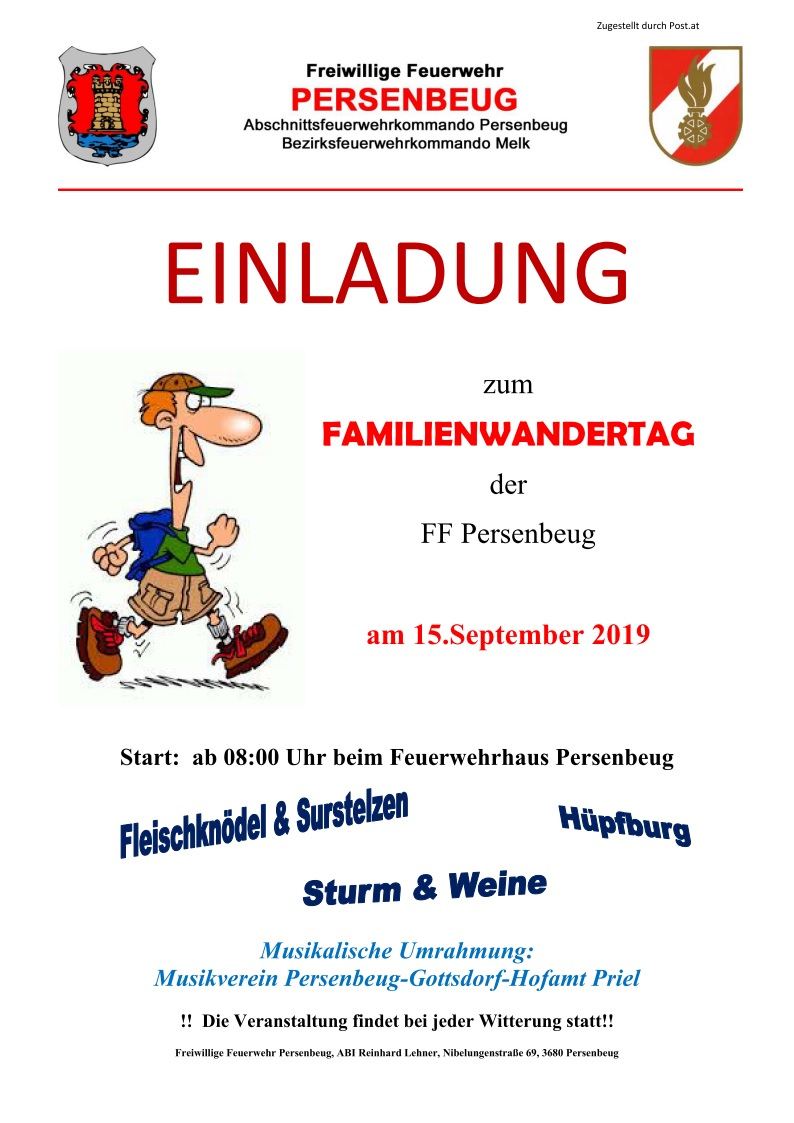 Familienwandertag am 15. September 2019