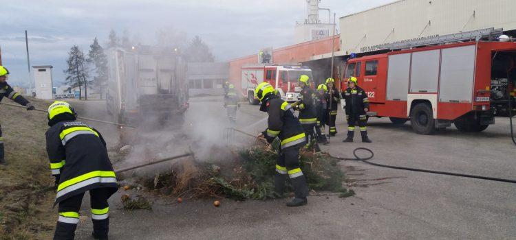 LKW Brand – Müllabfuhr in der Industriestraße